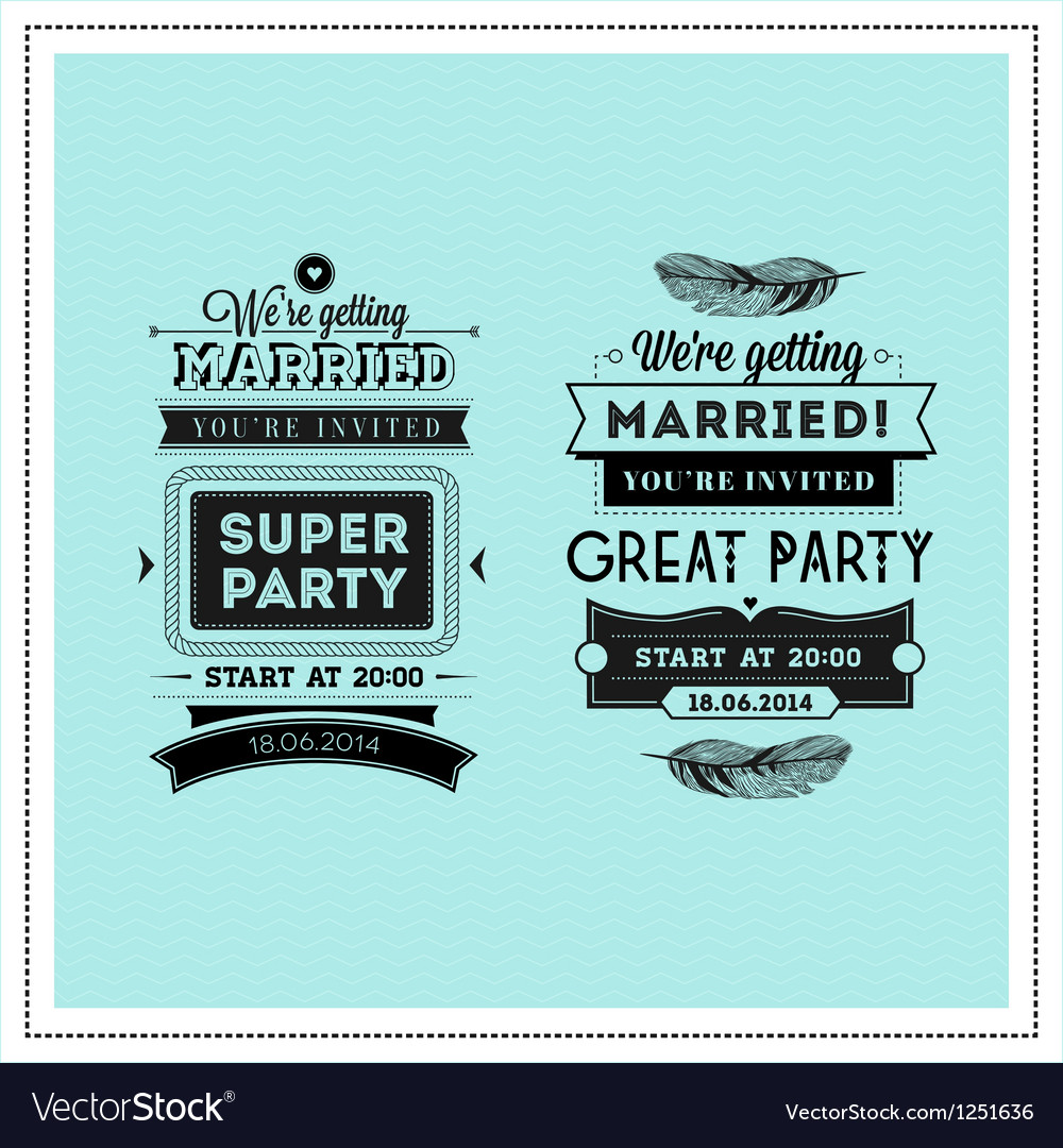 Wedding stamps typography vector | Price: 3 Credit (USD $3)