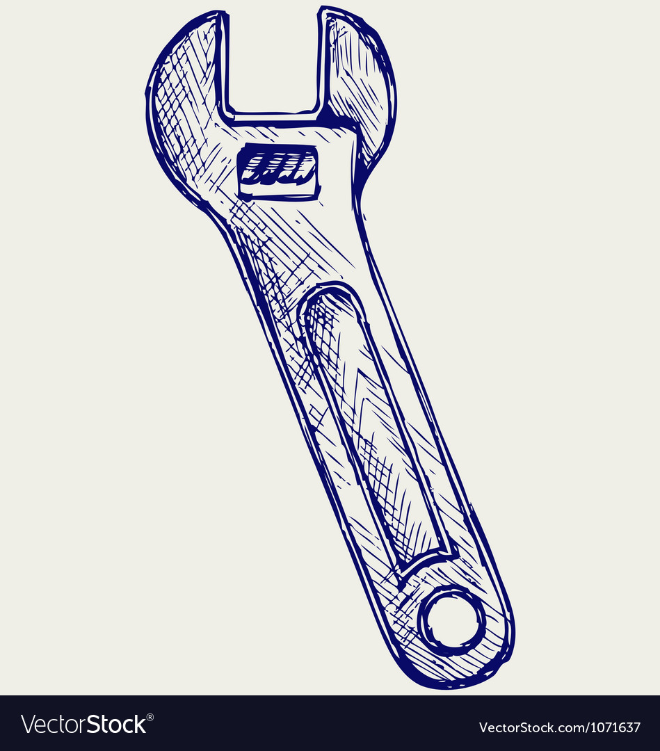 Adjustable wrench vector | Price: 1 Credit (USD $1)