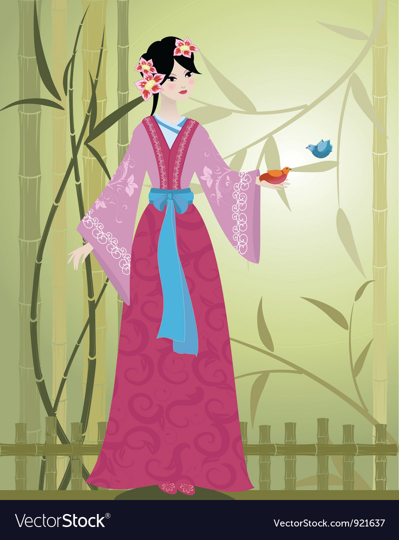 China girl4 vector | Price: 3 Credit (USD $3)