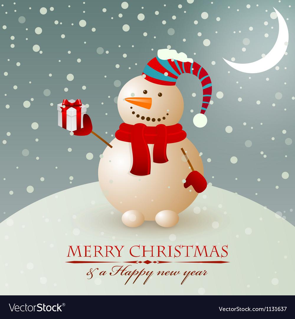 Christmas snowman vector | Price: 1 Credit (USD $1)