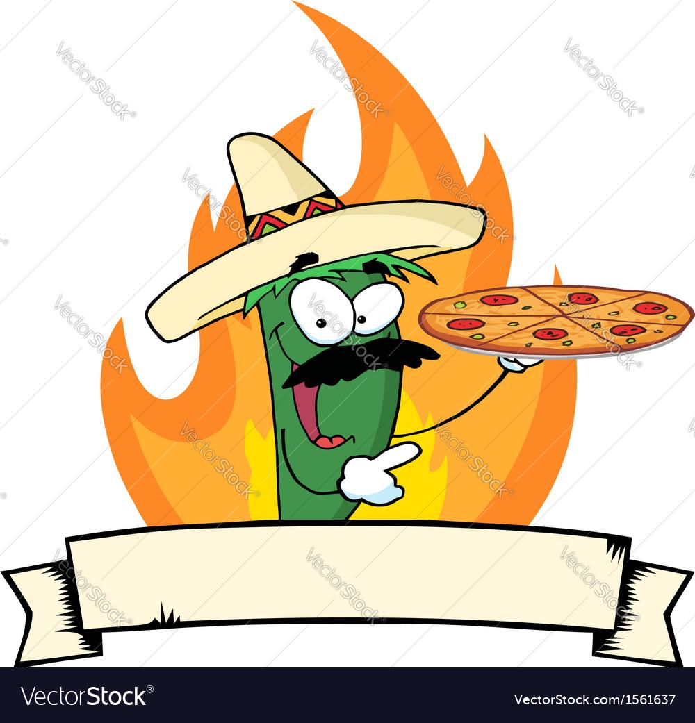 Hot chilli cartoon vector | Price: 1 Credit (USD $1)