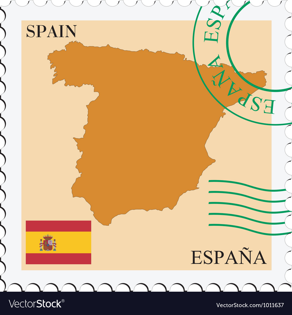 Mail to-from spain vector | Price: 1 Credit (USD $1)