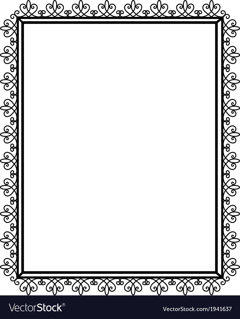 Openwork and black frame vector | Price: 1 Credit (USD $1)