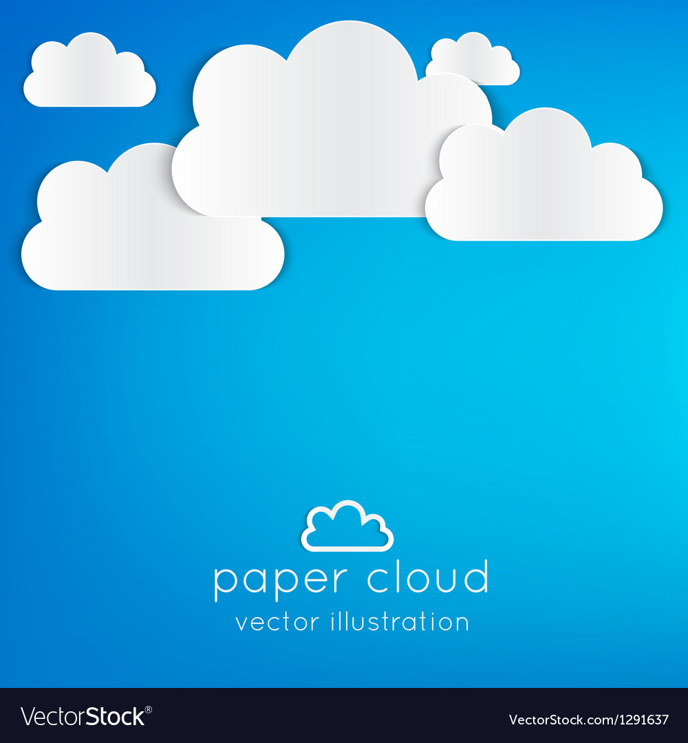 Paper cloud vector | Price: 1 Credit (USD $1)