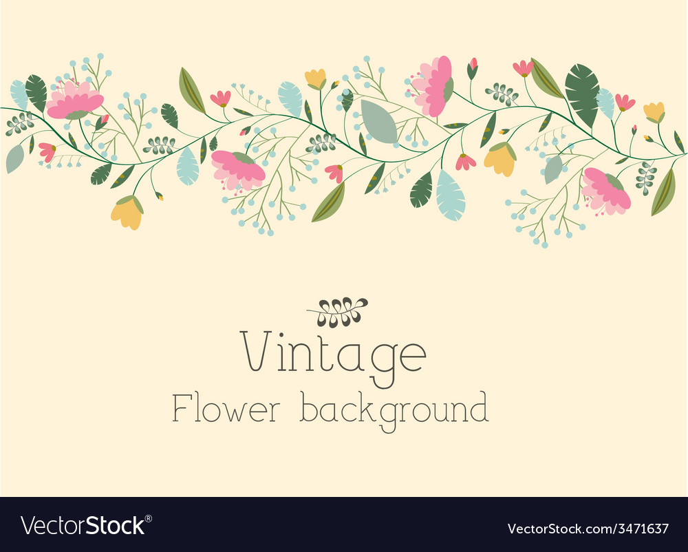 Retro flower background concept vector | Price: 1 Credit (USD $1)