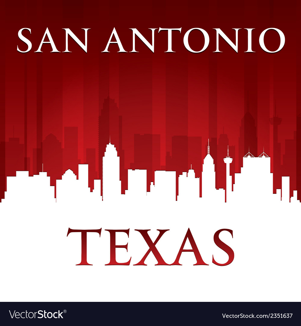 San antonio texas city skyline silhouette vector | Price: 1 Credit (USD $1)