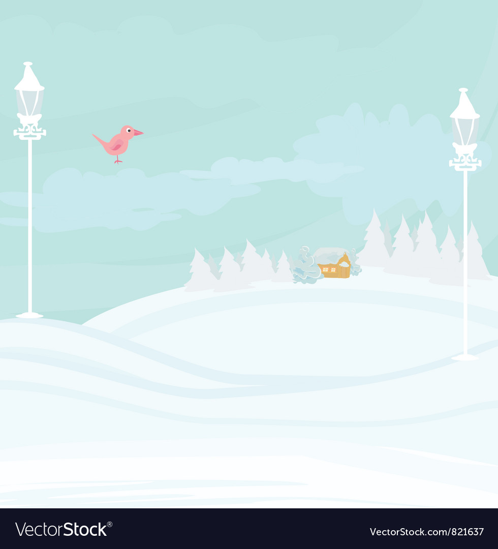 Winter bird vector | Price: 1 Credit (USD $1)
