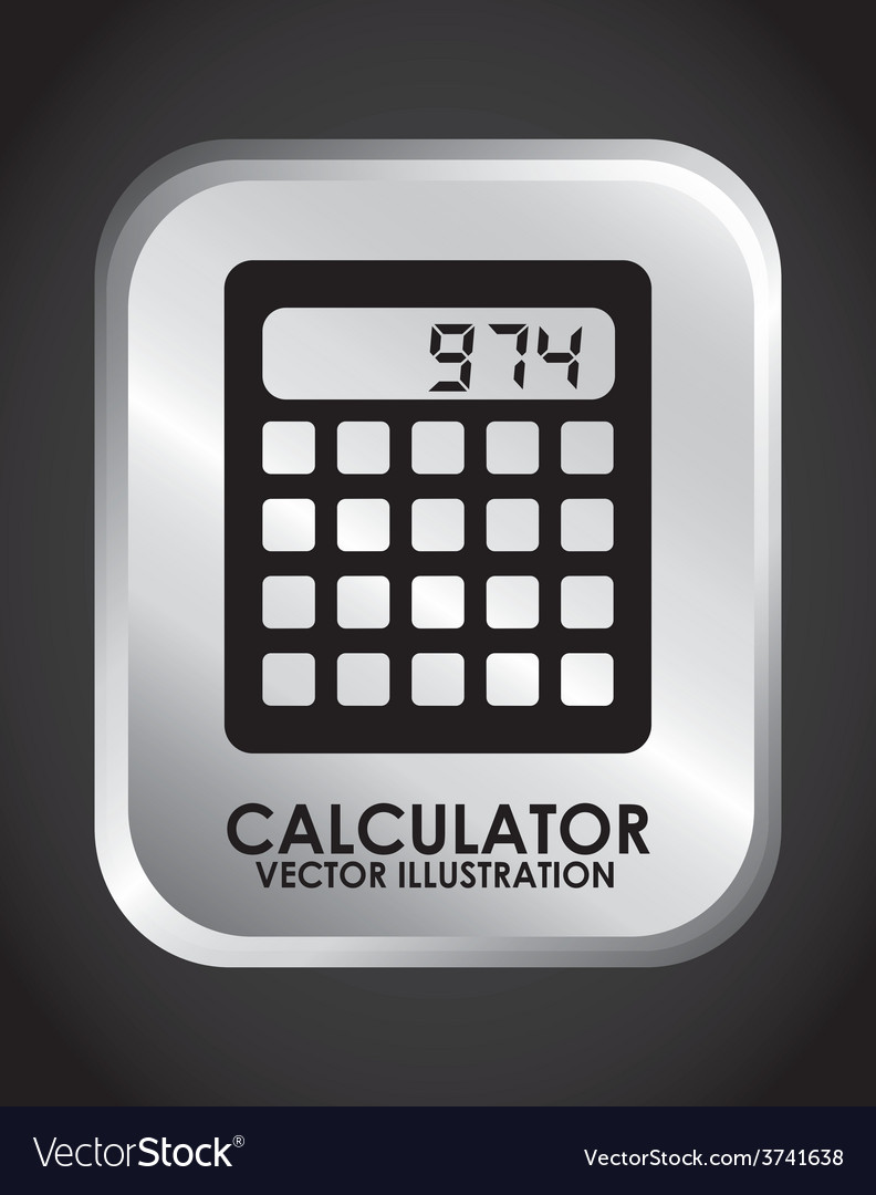 Calculator design vector | Price: 1 Credit (USD $1)