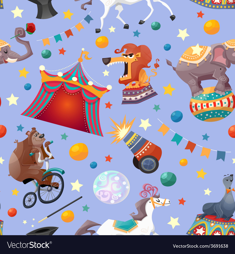 Circus seamless pattern vector | Price: 1 Credit (USD $1)
