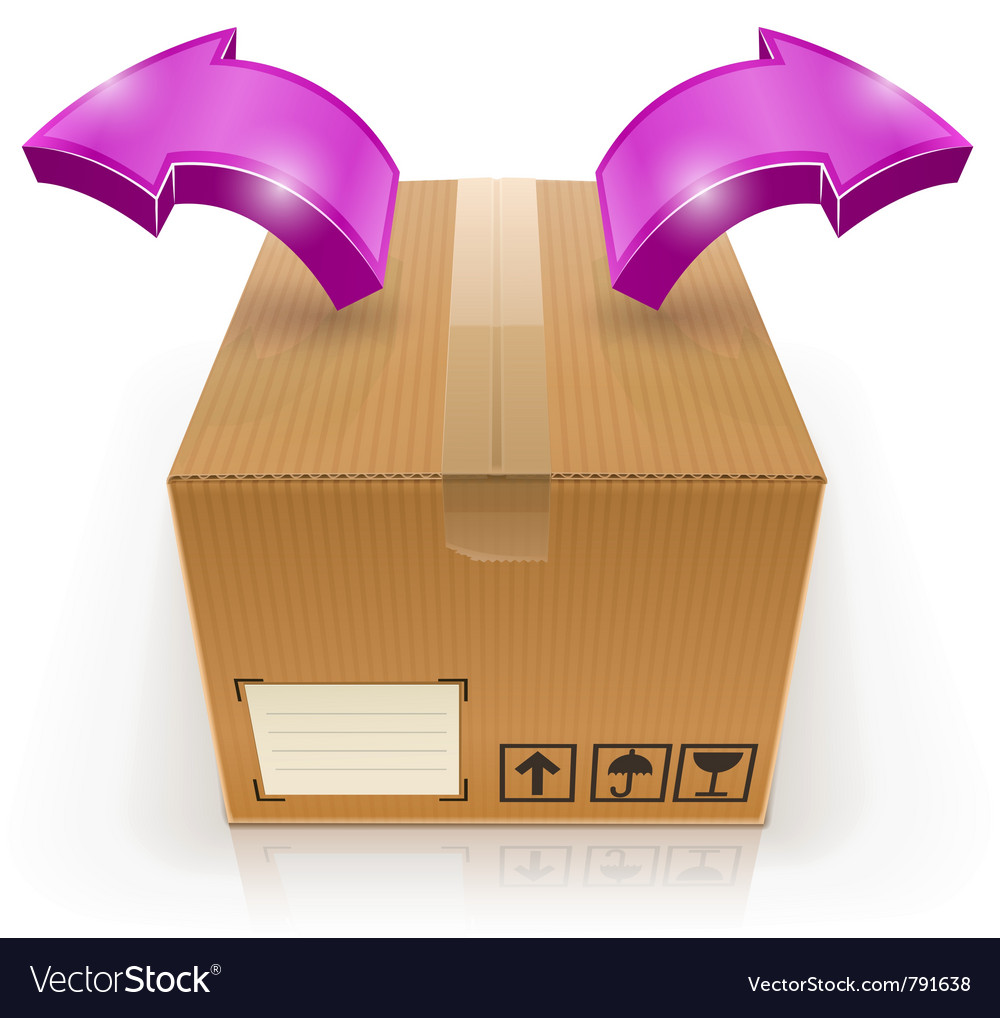 Closed box with arrow outside vector | Price: 1 Credit (USD $1)
