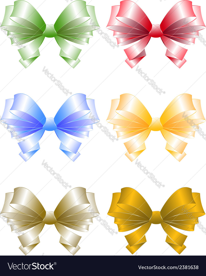 Colored greeting bows vector | Price: 1 Credit (USD $1)