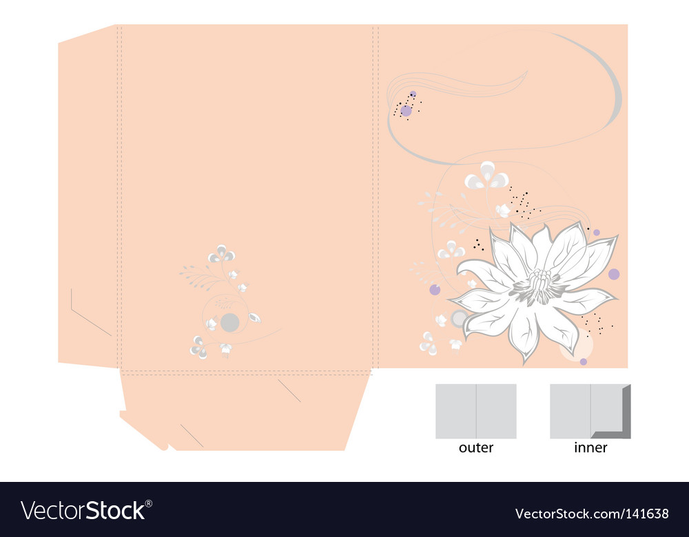 Decorative bag with white flower vector | Price: 1 Credit (USD $1)