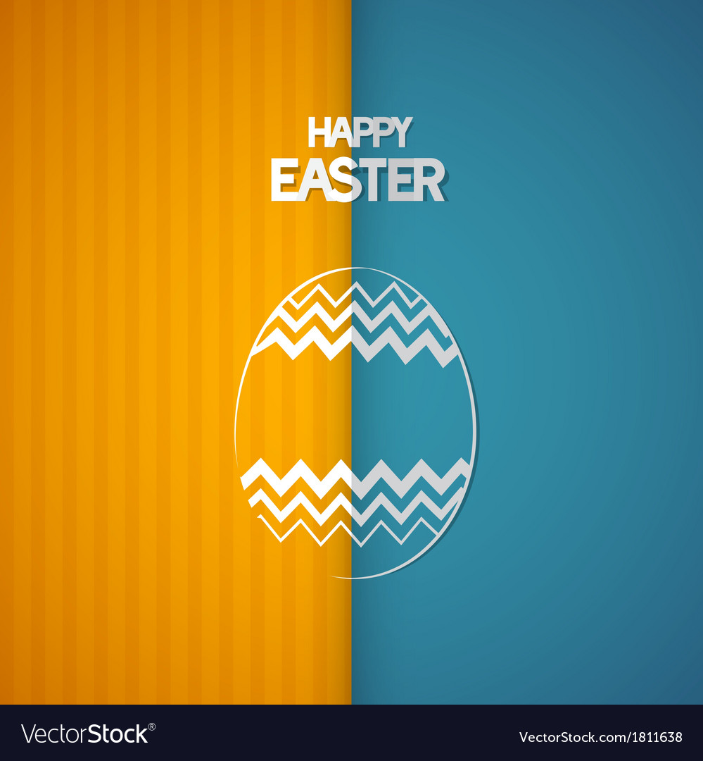 Easter retro background with abstract egg symbol vector | Price: 1 Credit (USD $1)