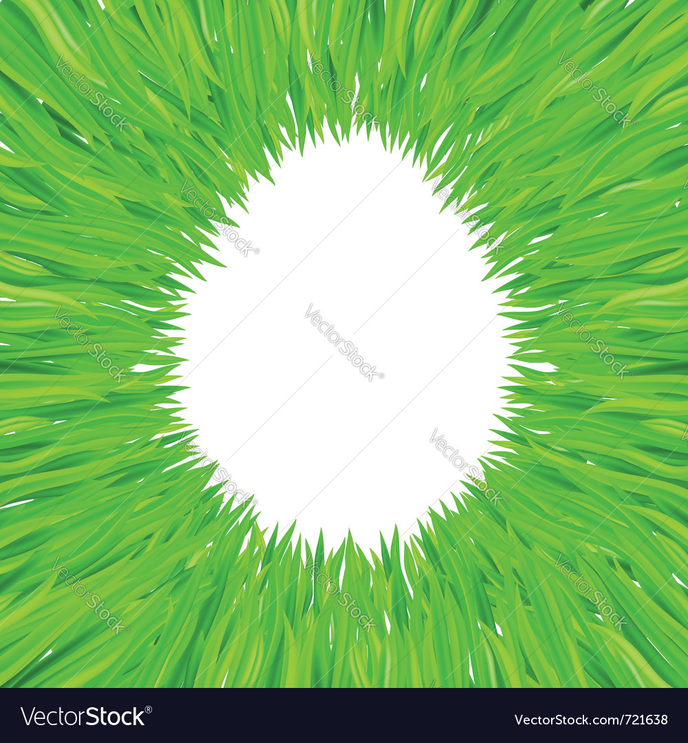Egg of grass vector | Price: 1 Credit (USD $1)