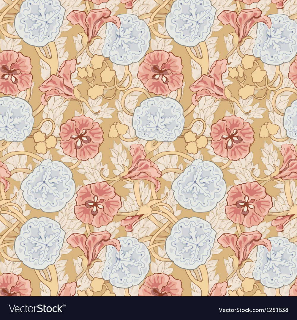 Floral pattern in vintage style vector | Price: 1 Credit (USD $1)
