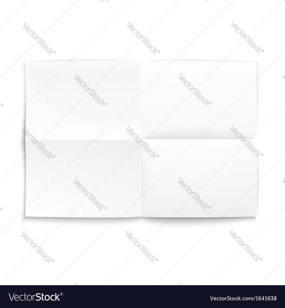Folded paper on white background soft shadows vector   Price: 1 Credit (USD $1)