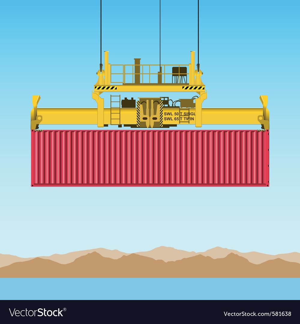 Freight container vector | Price: 1 Credit (USD $1)