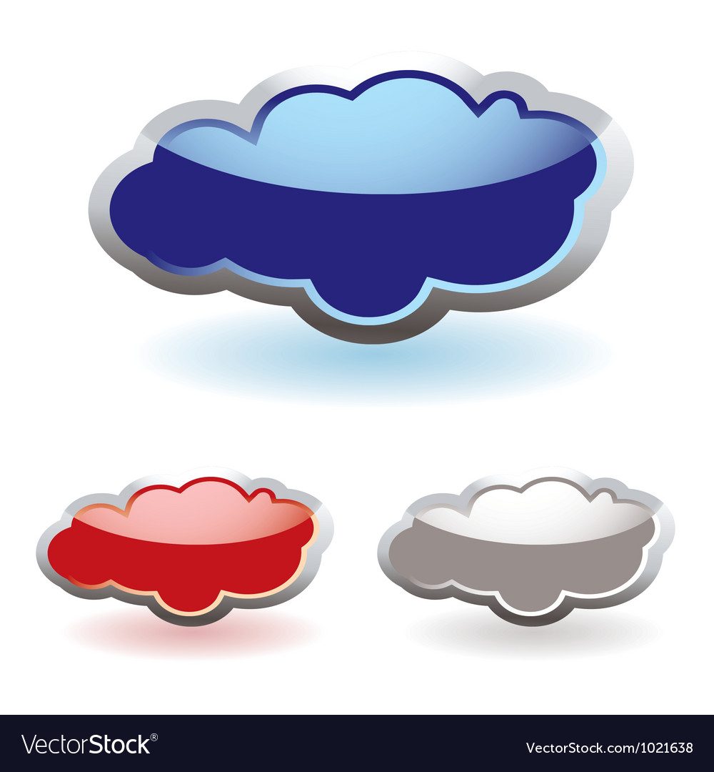 Glass fluffy clouds vector | Price: 1 Credit (USD $1)