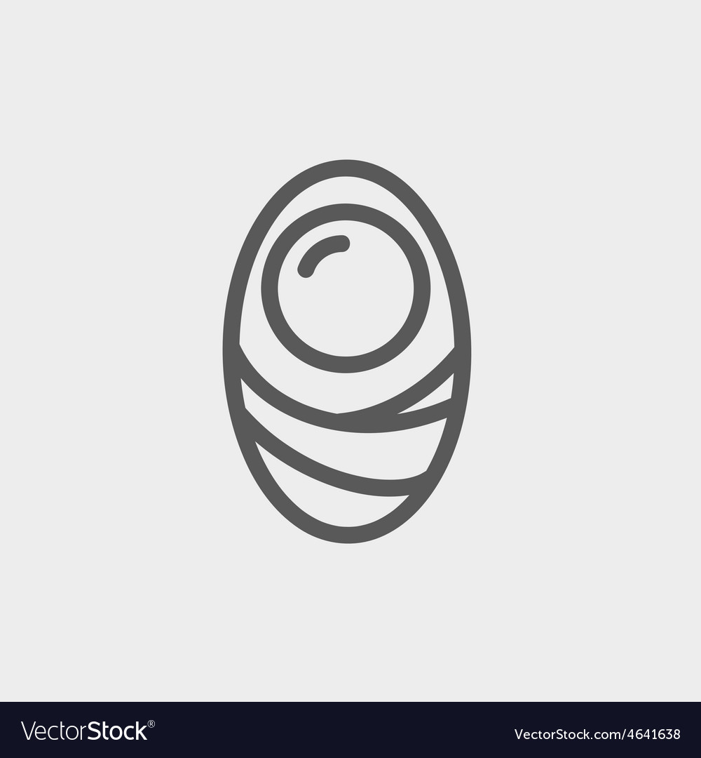 Human cell thin line icon vector | Price: 1 Credit (USD $1)