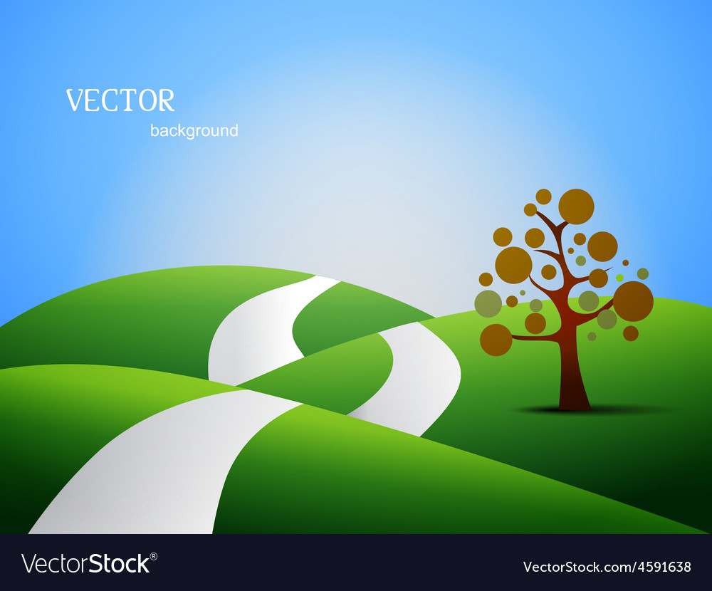 Land scape vector | Price: 1 Credit (USD $1)