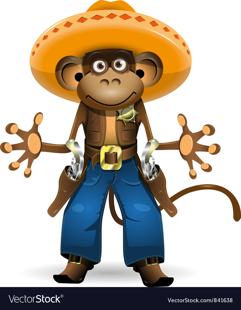 Monkey sheriff vector | Price: 3 Credit (USD $3)
