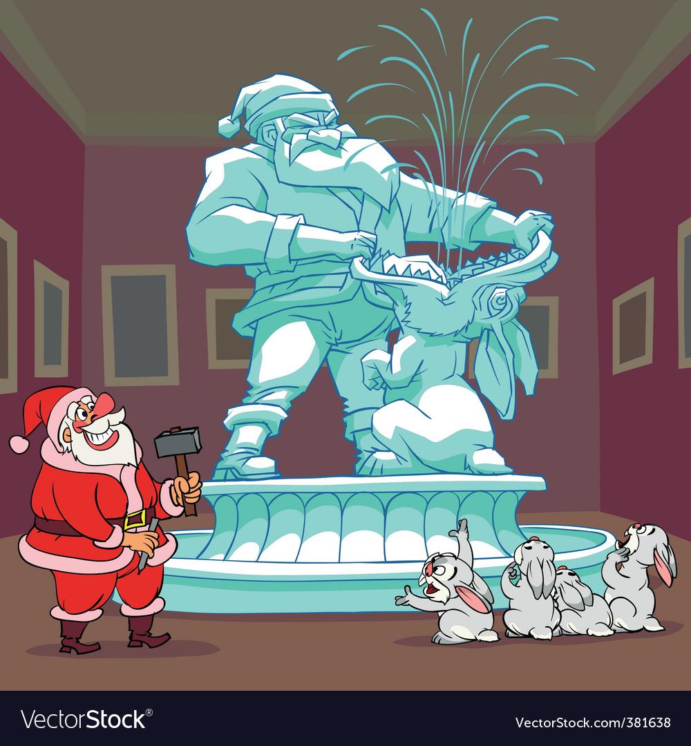 Santa claus sculpture vector | Price: 5 Credit (USD $5)