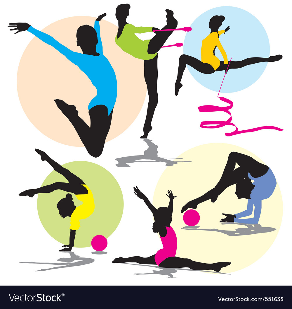 Set rhitmic gymnastics vector | Price: 1 Credit (USD $1)