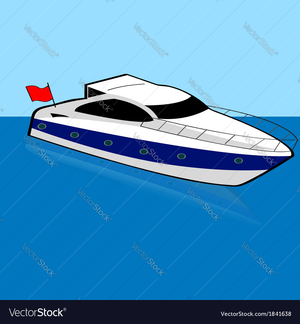 Speed boat vector | Price: 1 Credit (USD $1)