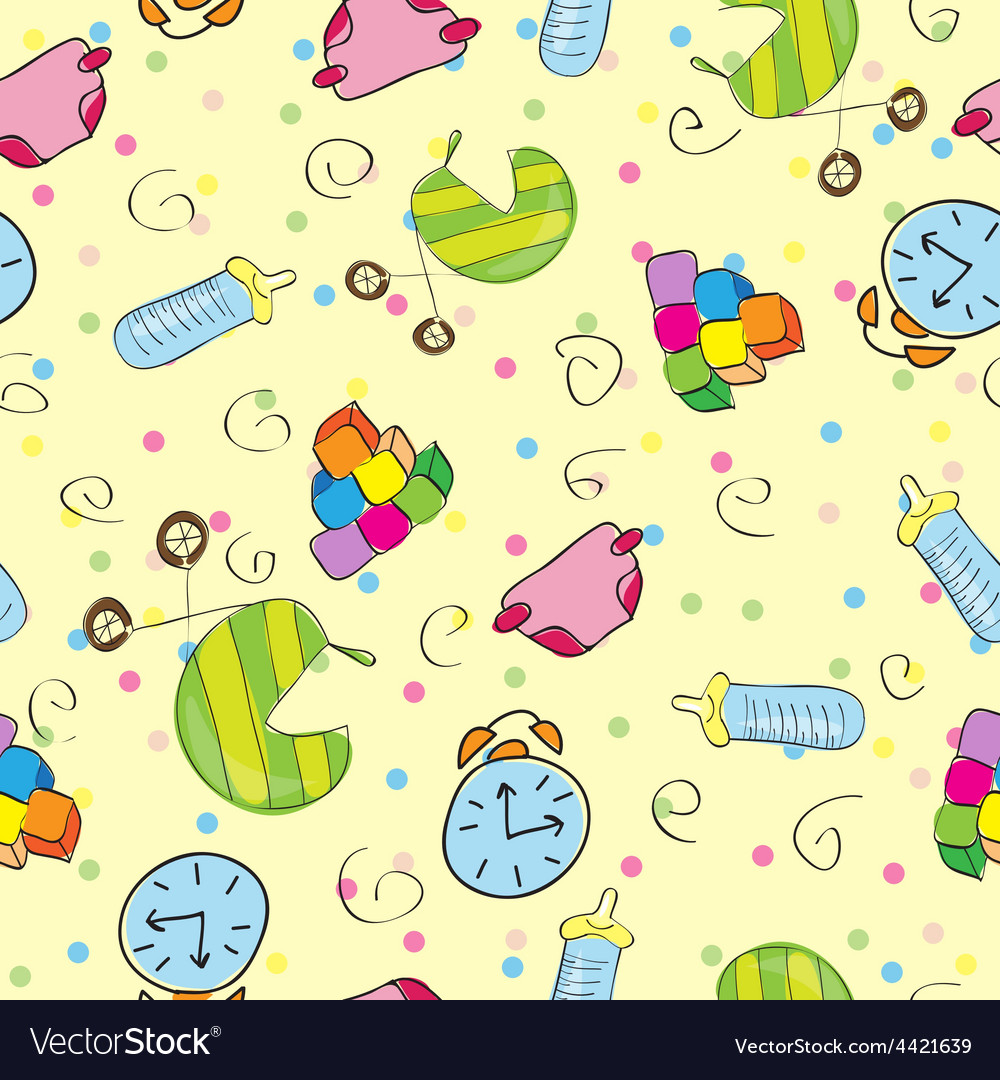A variety of childrens toys vector | Price: 1 Credit (USD $1)