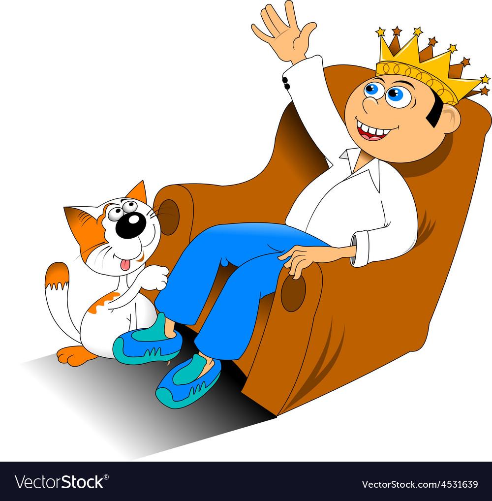 Birthday boy on chair vector | Price: 3 Credit (USD $3)