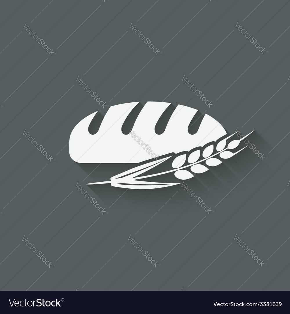Bread bakery symbol vector | Price: 1 Credit (USD $1)