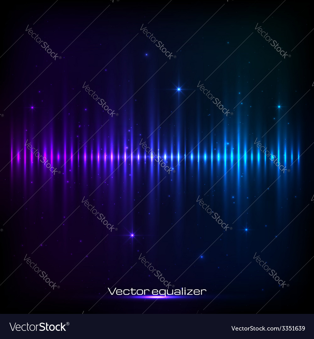 Dark blue shining equalizer vector | Price: 1 Credit (USD $1)