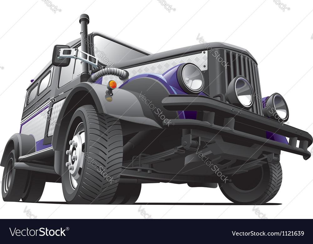 Dieselpunk jeep vector | Price: 5 Credit (USD $5)