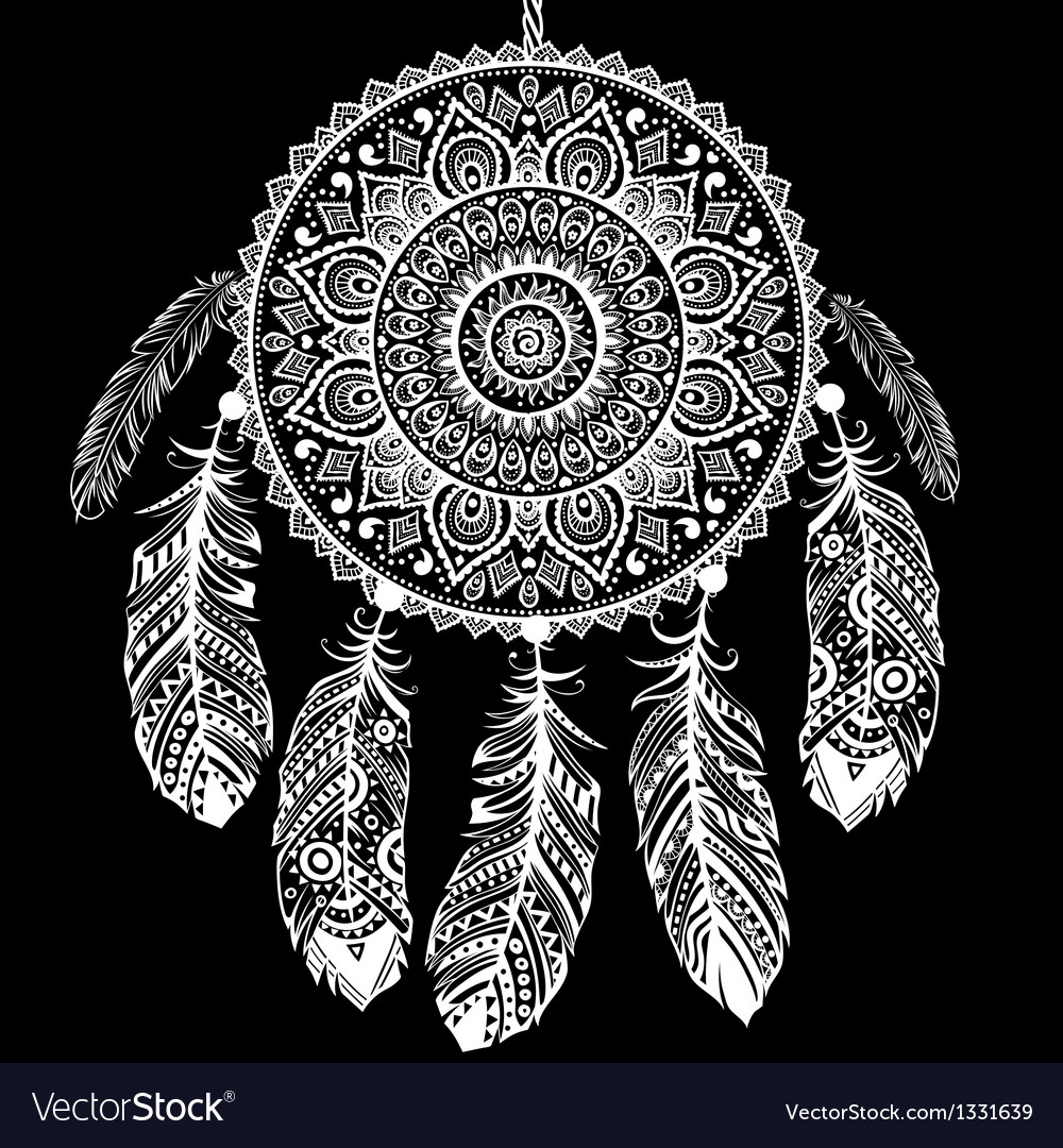 Ethnic dream catcher vector | Price: 3 Credit (USD $3)