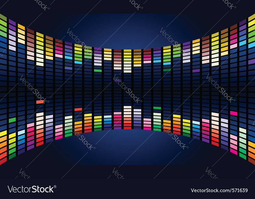 Graphic equalizer display vector | Price: 1 Credit (USD $1)