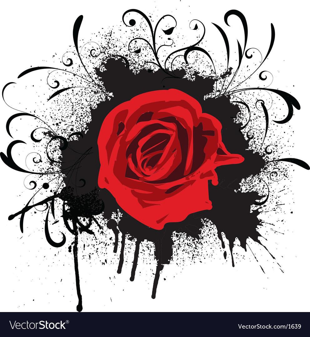 Grunge rose vector | Price: 1 Credit (USD $1)