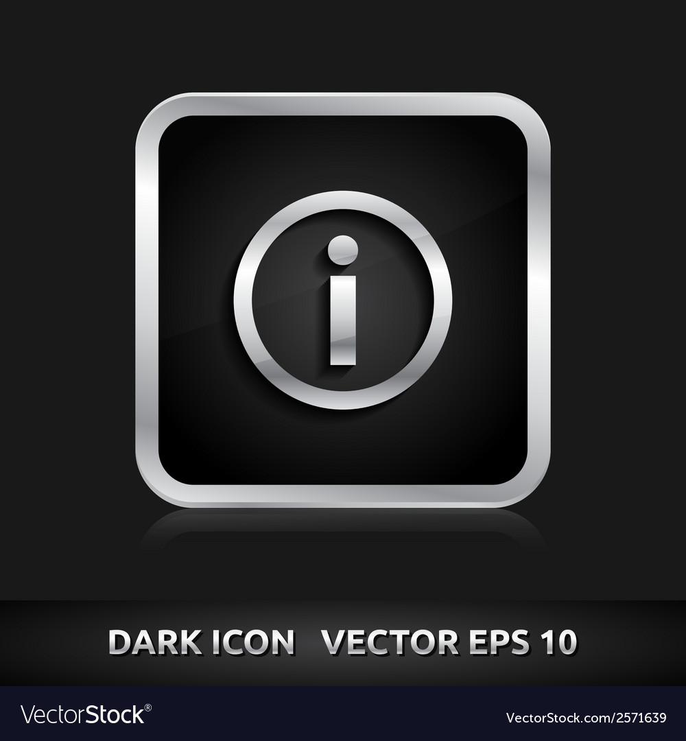 Information info icon silver metal vector | Price: 1 Credit (USD $1)
