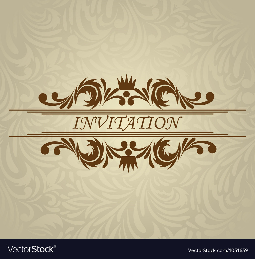 Invitation card with frame vector | Price: 1 Credit (USD $1)