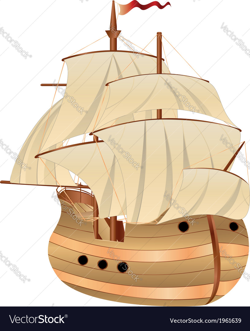 Old sailing ship vector | Price: 1 Credit (USD $1)