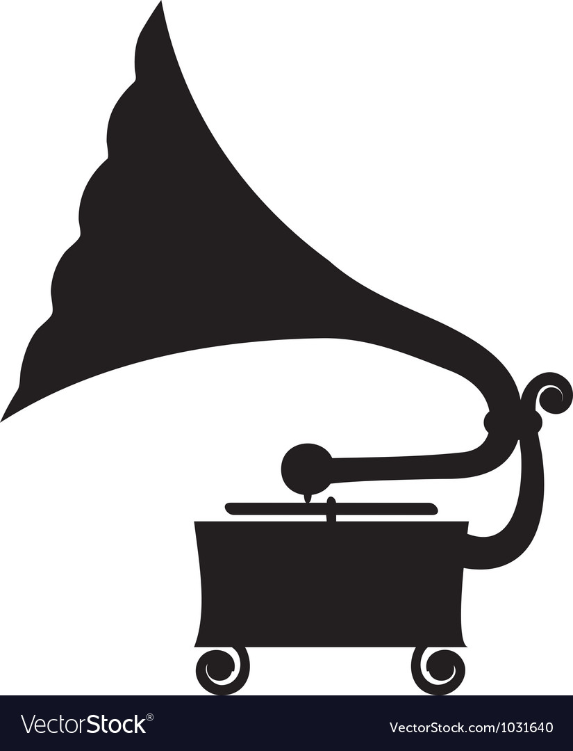 Antique gramophone vector | Price: 1 Credit (USD $1)