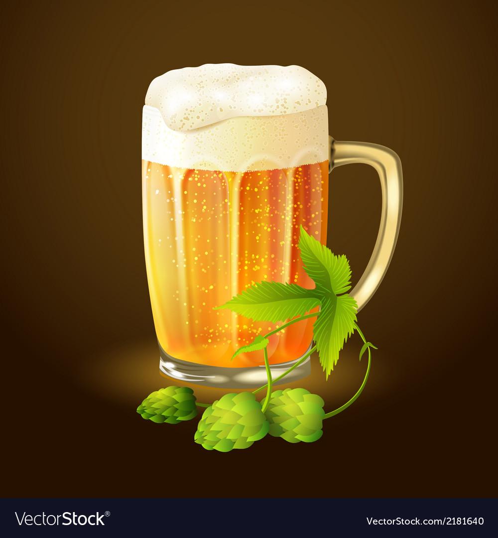 Beer hop background vector | Price: 1 Credit (USD $1)