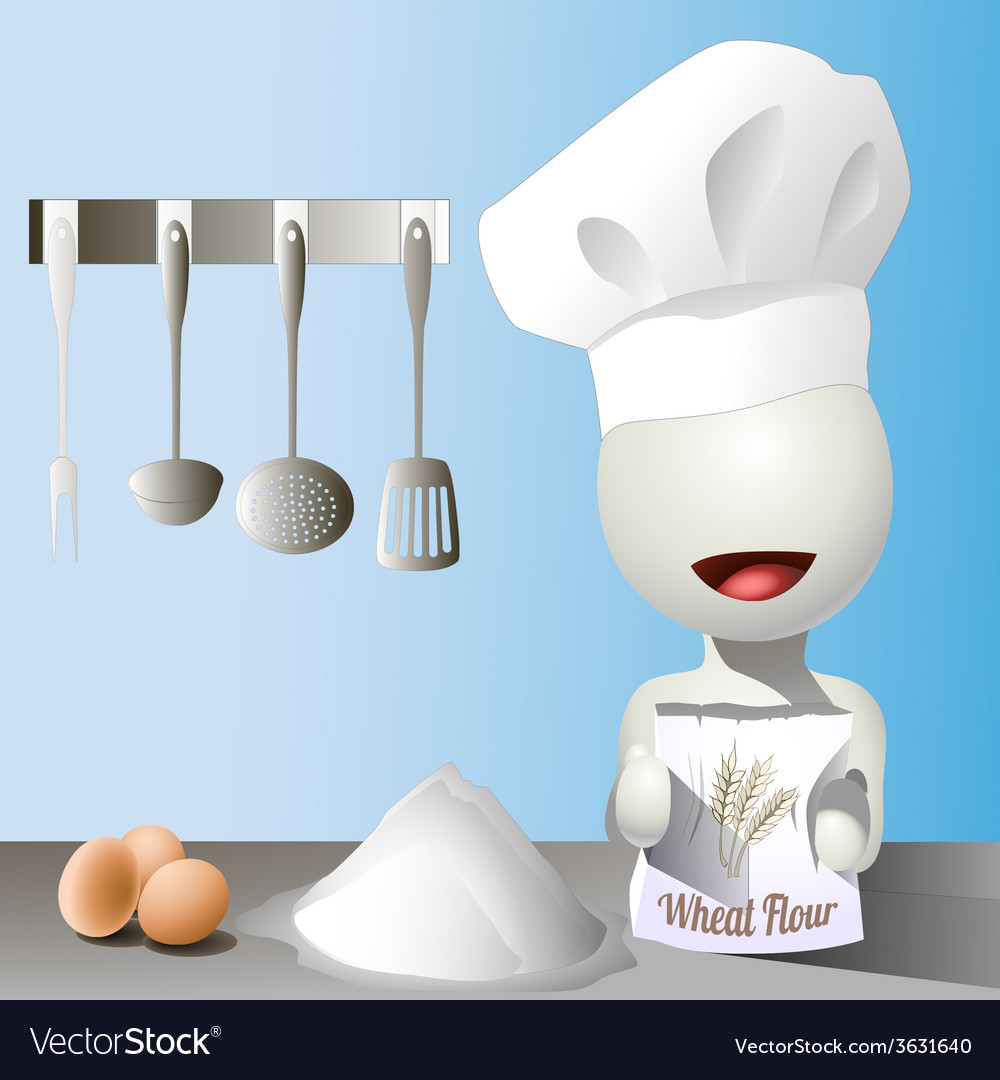 Faceless chef vector | Price: 1 Credit (USD $1)