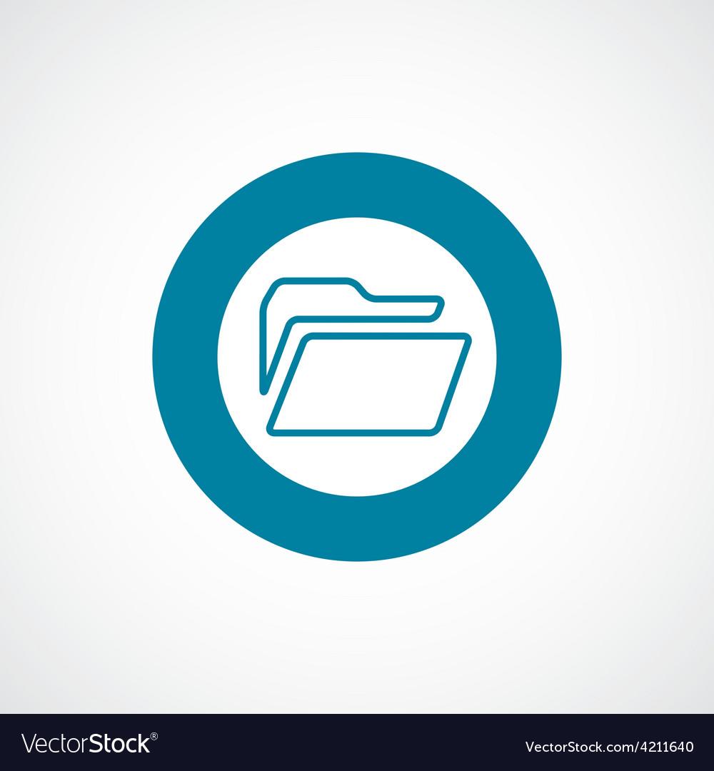Folder icon bold blue circle border vector | Price: 1 Credit (USD $1)