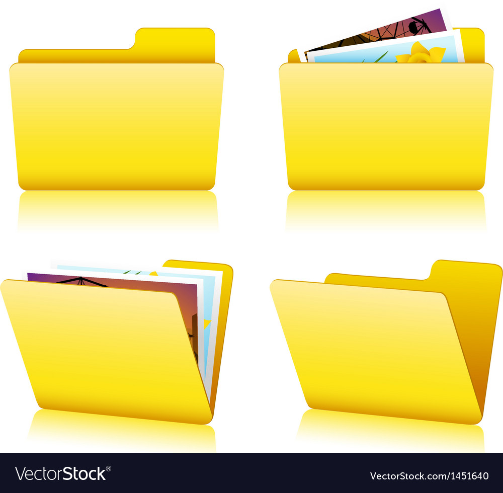 Folder set vector | Price: 1 Credit (USD $1)