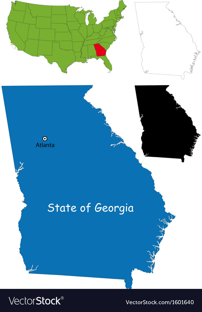 Georgia map vector | Price: 1 Credit (USD $1)
