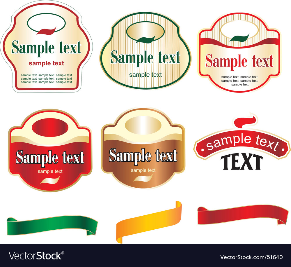 Label ribbon vector | Price: 1 Credit (USD $1)