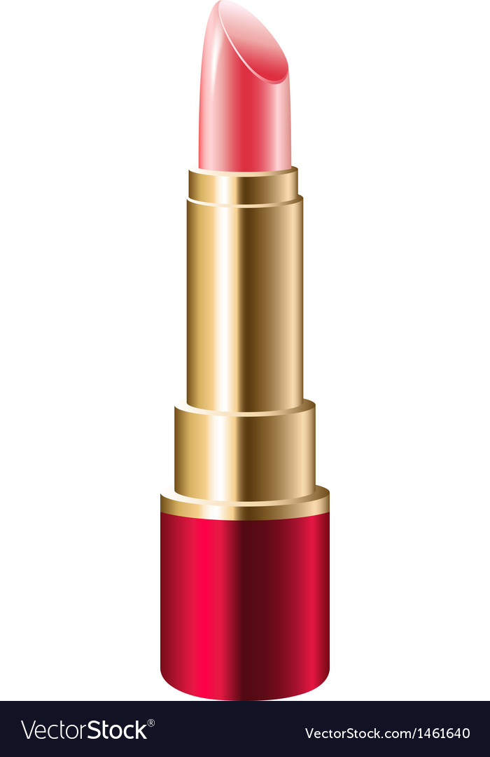 Realistic pink lipstick vector | Price: 1 Credit (USD $1)