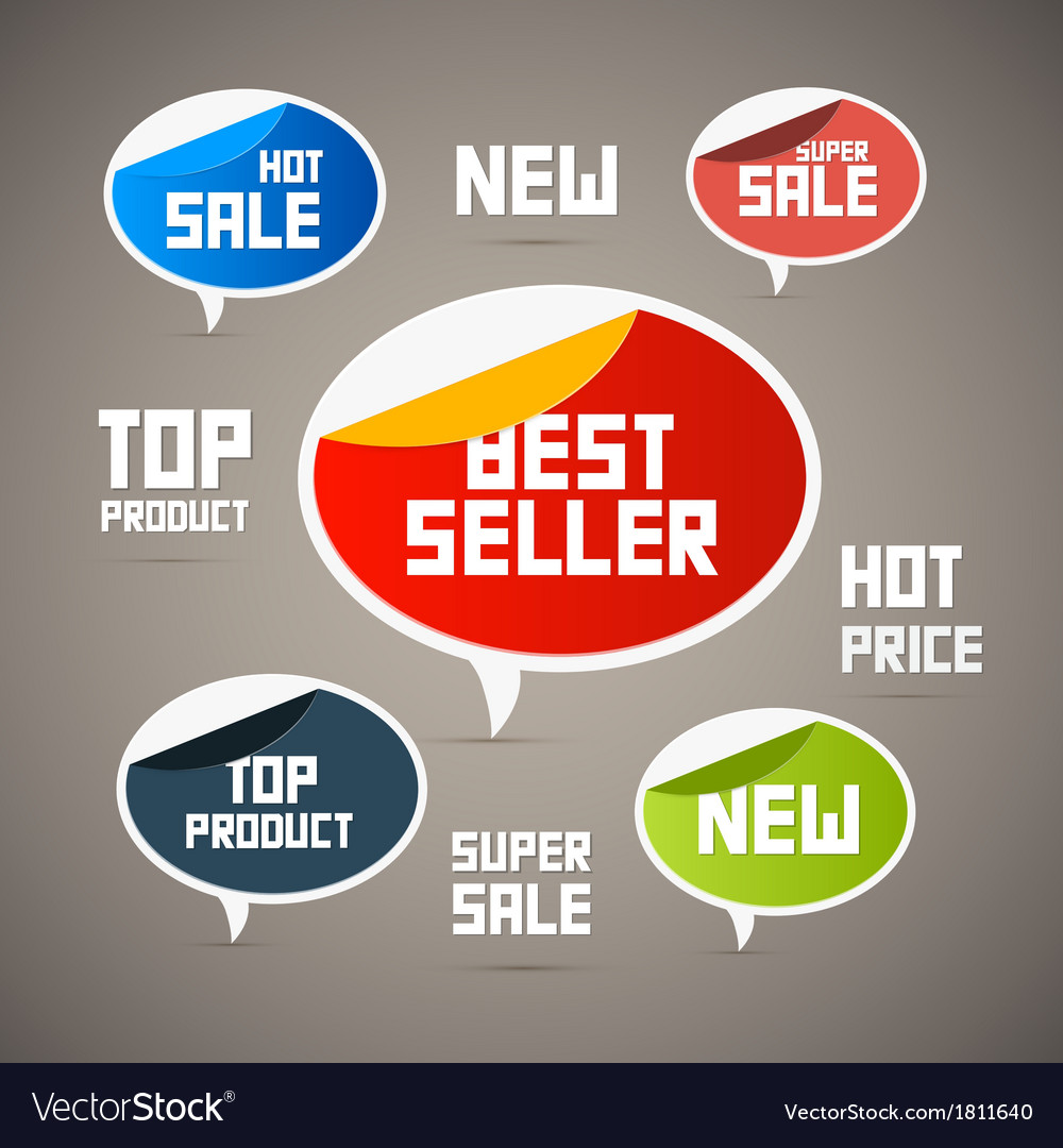 Retro labels tags best seller new super sale top vector | Price: 1 Credit (USD $1)