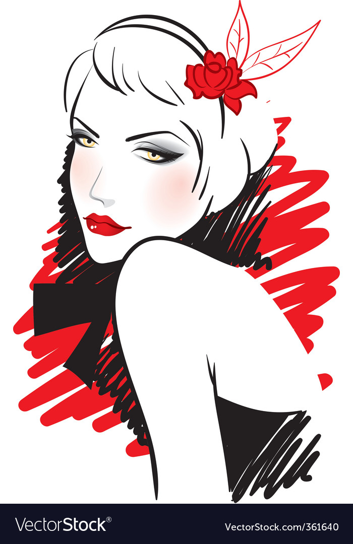Retro women vector | Price: 3 Credit (USD $3)