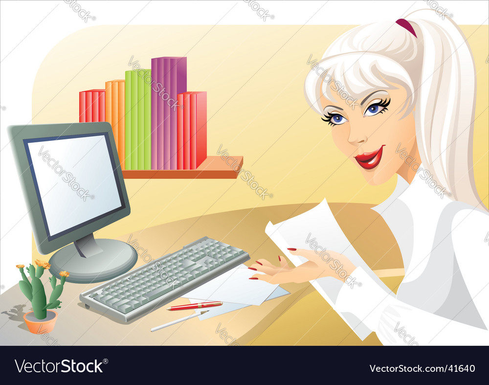 The secretary vector | Price: 3 Credit (USD $3)